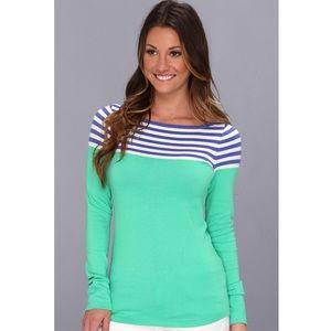 Lilly Pulitzer MARIA SWEATER striped Blue green S
